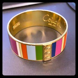 AUTHENTIC coach enamel legacy bracelet